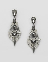 Ny Lon Nylon Multi Gem Earrings Crystal Clear