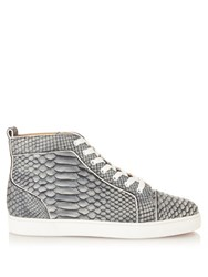 Christian Louboutin Louis Python High Top Trainers Denim