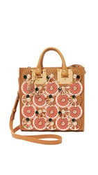 Sophie Hulme Embellished Square Tote Citrus Summer Tan