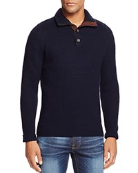 Bloomingdale's The Men's Store At Wool And Cashmere Blend Mockneck Sweater True Navy