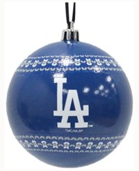 Memory Company Los Angeles Dodgers Ugly Sweater Ball Ornament Royalblue