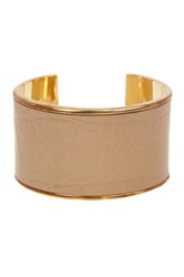 Baublebar Gilded Embossed Genuine Leather Cuff Metallic