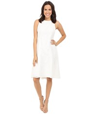 Maggy London Circle Interlocking Lace Fit And Flare White Women's Dress