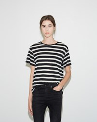 R 13 Striped Boy Tee Black