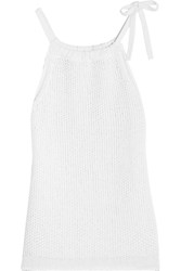 Rag And Bone Rag And Bone Willa Knitted Cotton Top White