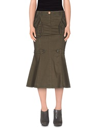 Jeans Les Copains 3 4 Length Skirts Military Green