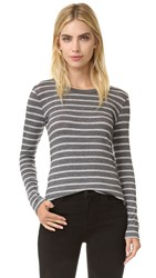 Velvet Kellyanne Long Sleeve Tee Charcoal Heather