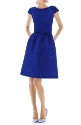 Women's Alfred Sung Woven Fit And Flare Dress Royal