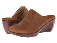 Naot Footwear Evening Saddle Brown Leather Women's Flat Shoes