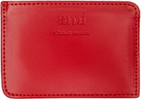Ami Alexandre Mattiussi Red Leather Card Holder