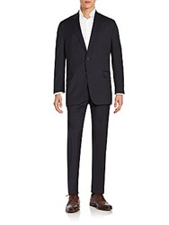 Lauren Ralph Lauren Regular Fit Pinstripe Wool Suit Navy