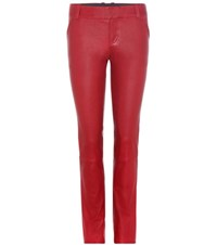 Stouls Jerry Leather Trousers Red