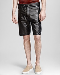 The Kooples Thin Leather Shorts Black