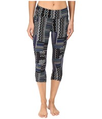 Prana Freya Knicker Bluebell Fossil Women's Casual Pants Black