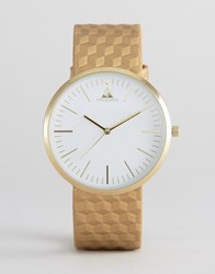 Asos Watch With Gold Embossed Strap Gold