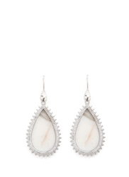 Eddie Borgo Crystal Pave Agate Spike Drop Earrings White