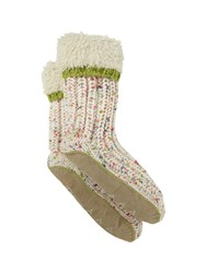 White Stuff Spacey Knit Slipper Sock White