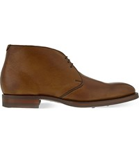Barker Aukney Leather Chukka Boots Tan