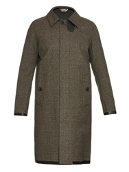 Cerruti Prince Of Wales Check Bonded Coat