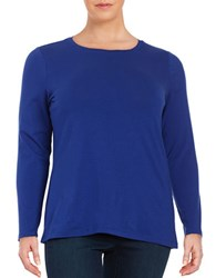 Lord And Taylor Plus Knit Crewneck Shirt Pluto