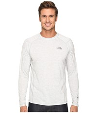 The North Face Long Sleeve Flashdry Crew Tnf Light Grey Heather Men's Sweatshirt Gray