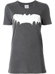 Zoe Karssen Bat Print T Shirt Grey