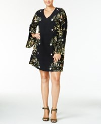 Rachel Roy Curvy Trendy Plus Size Peasant Dress Only At Macy's Black Combo
