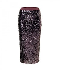 By Malene Birger Ciala Sequin Purple Pencil Skirt