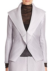 Issey Miyake Pleated Evening Jacket Silver