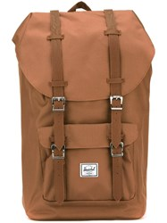 Herschel Supply Co. Buckle Detail Backpack Brown