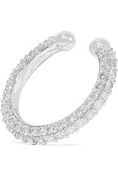 Lynn Ban Orbital Sterling Silver Diamond Ear Cuff
