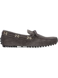Car Shoe Textured Moccasin Grey