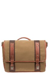 Men's Will Leather Goods 'Signature' Messenger Bag Beige Tobacco Saddle