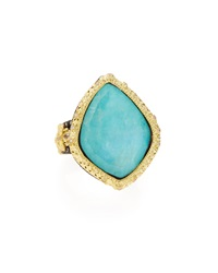 Armenta Old World Blue Turquoise And Diamond Ring