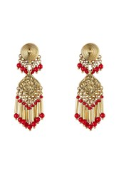 Etro Bead Embellished Earrings Gold
