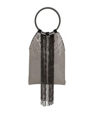 Whiting And Davis Cascade Fringe Double Ring Small Handbag Pewter