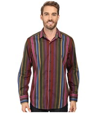 Robert Graham Lateran Long Sleeve Woven Shirt Multi Men's Clothing