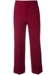 Pt01 Straight Trousers Red