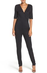 French Connection Women's 'Beau' Scalloped Jumpsuit