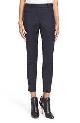 Women's Veronica Beard Skinny Ankle Zip Stretch Cotton Skinny Pants