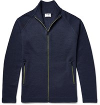 Acne Studios Keep Wool Zip Up Cardigan Navy