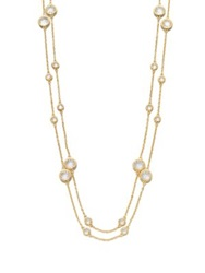 Adriana Orsini Long Double Row Station Necklace Gold