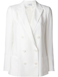 Akris Double Breasted Blazer White