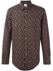 Paul Smith Floral Print Shirt Black