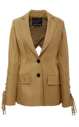 Marissa Webb Mildred Lace Up Blazer Tan