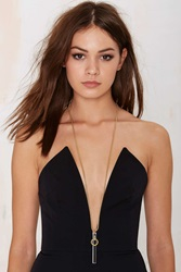 Nasty Gal I Still Love You Nyc Slave To Fashion Chain Necklace