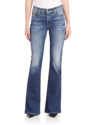 7 For All Mankind High Waist Vintage Bootcut Flare Jeans Bright Indigo Stretch