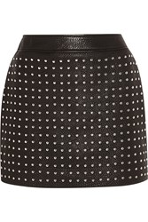Mcq By Alexander Mcqueen Studded Textured Leather Mini Skirt