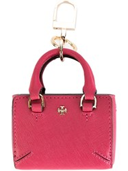 Tory Burch 'Robinson' Keyring Pink And Purple