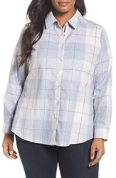 Foxcroft Plus Size Women's Winter Plaid Cotton Shirt